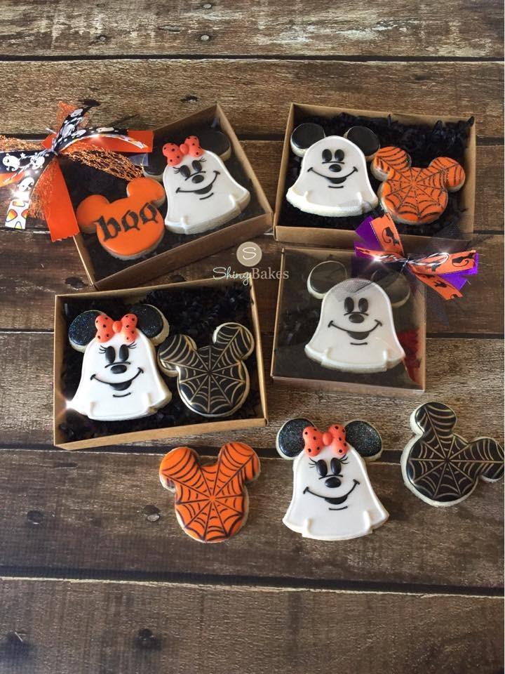 Mickey & Minnie Mouse Halloween Cookies