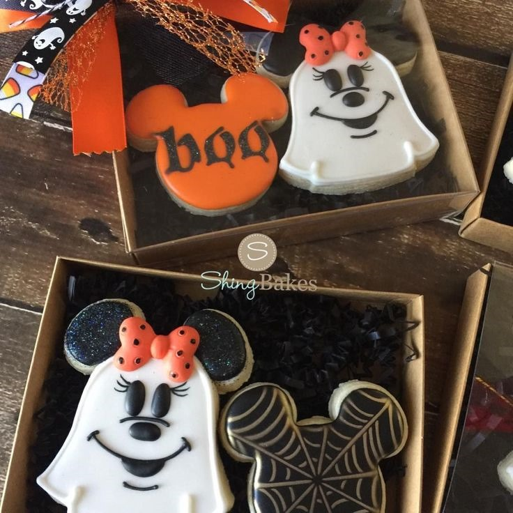 Minnie Mouse Halloween Cookies Gift Boxes