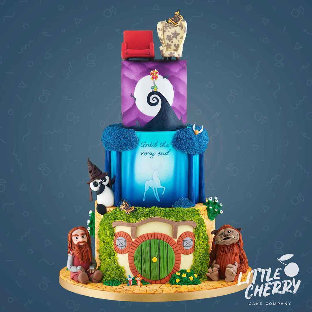 Nightmare-before-Christmas-LOTR-Labyrinth-wedding-cake
