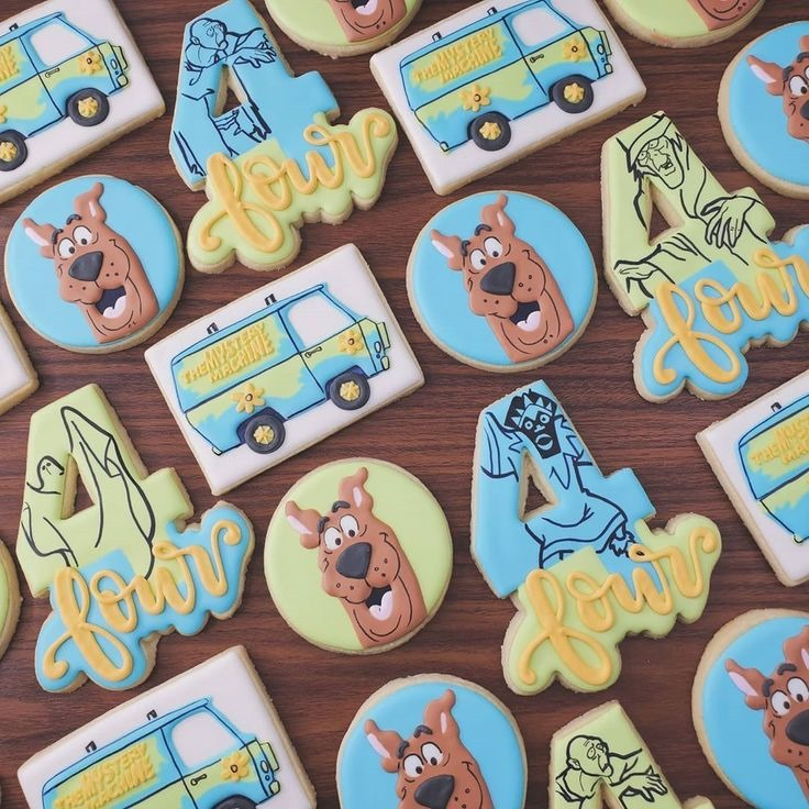 Scooby-Doo 4th Birthday Cookies