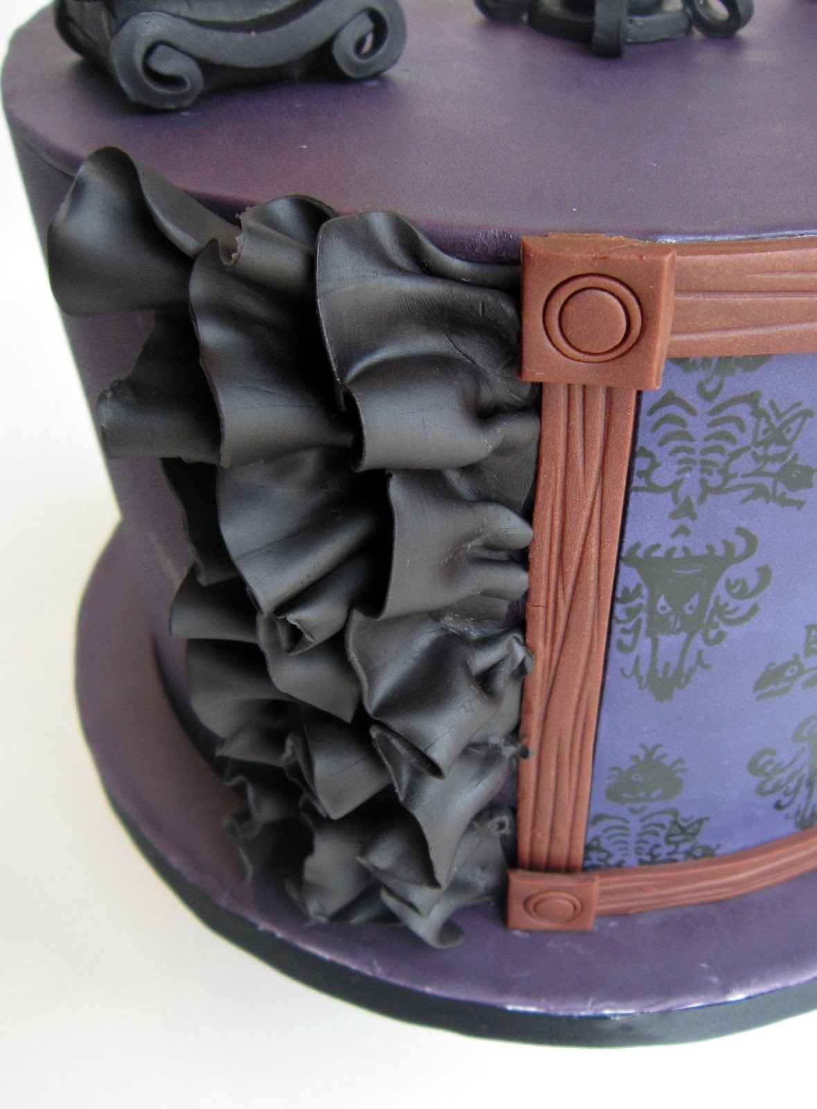 Side of Haunted Mansion Cake