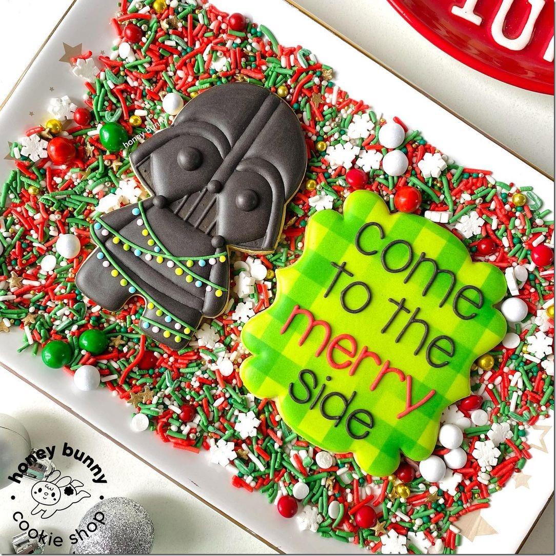 Darth Vader Christmas Cookies