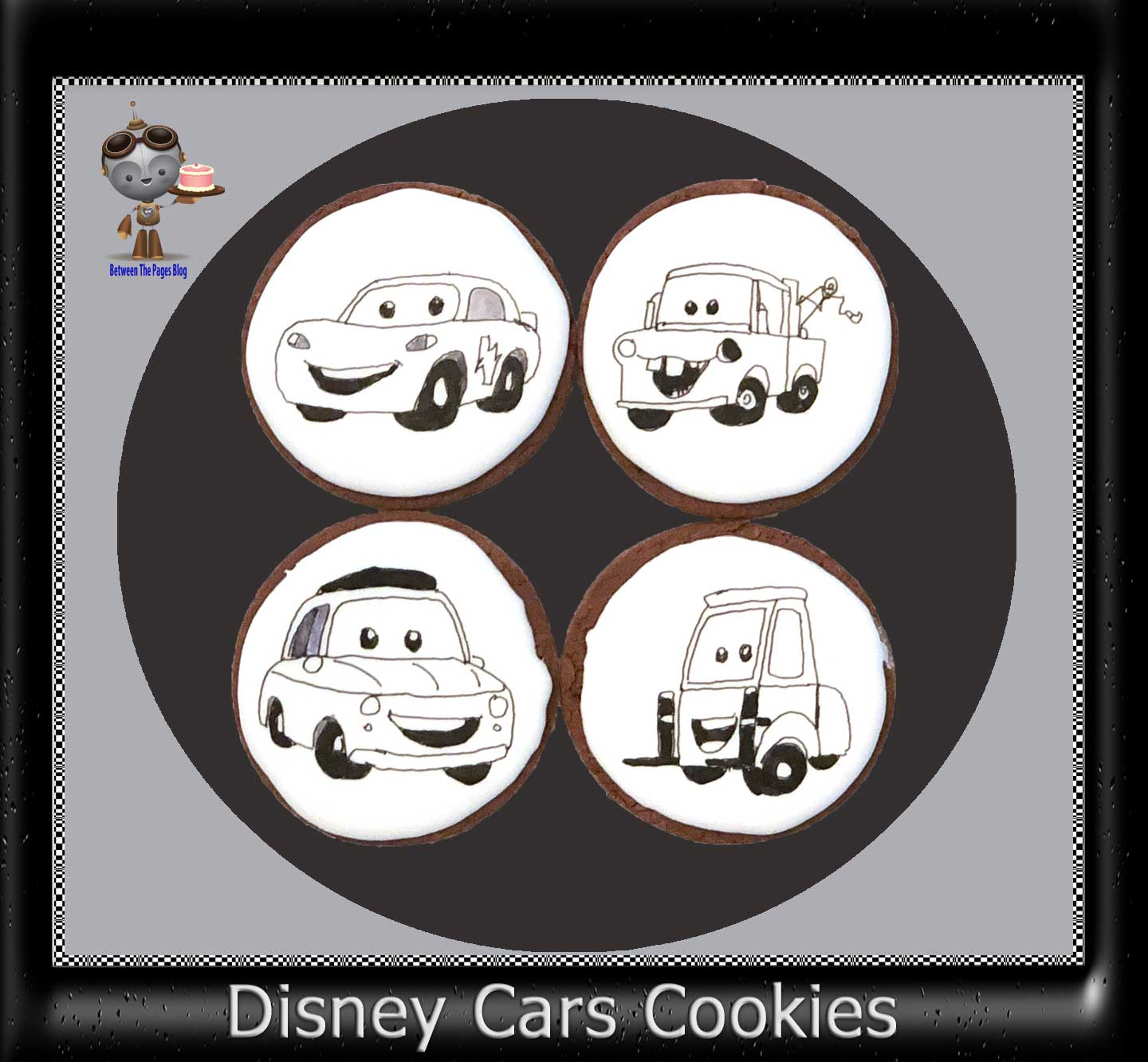 Black and White Disney Cars Cookies