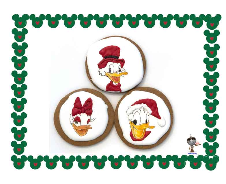 Disney Christmas Cookies Donald Daisy Scrooge