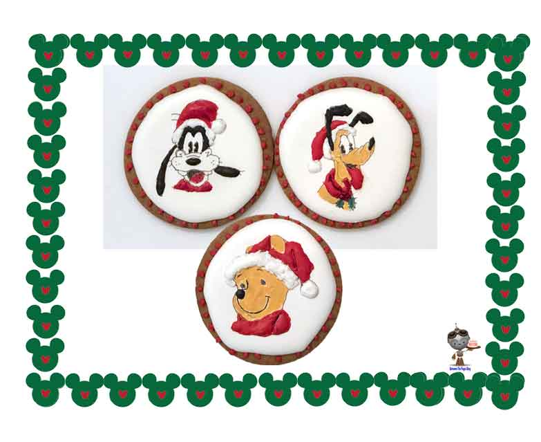Disney Christmas Cookies Goofy Pluto Pooh
