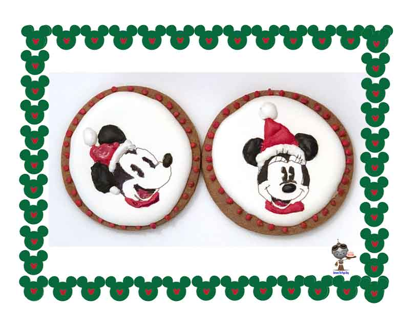 Minnie and Minnie Mouse Christmas Cookies