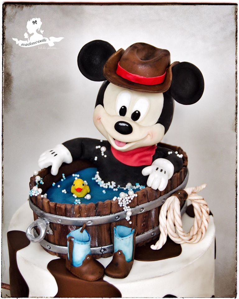 Cowboy Mickey Mouse Cake