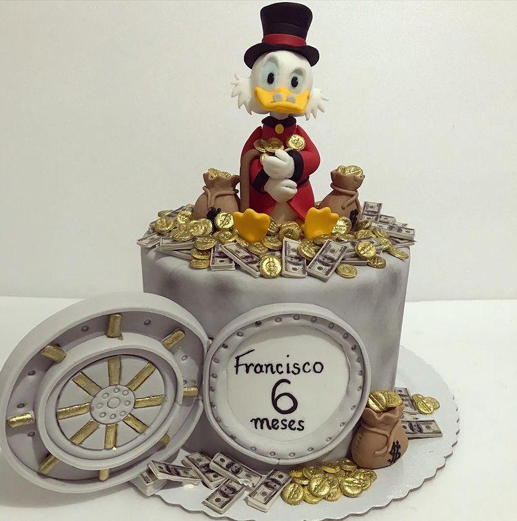 Scrooge McDuck Cake