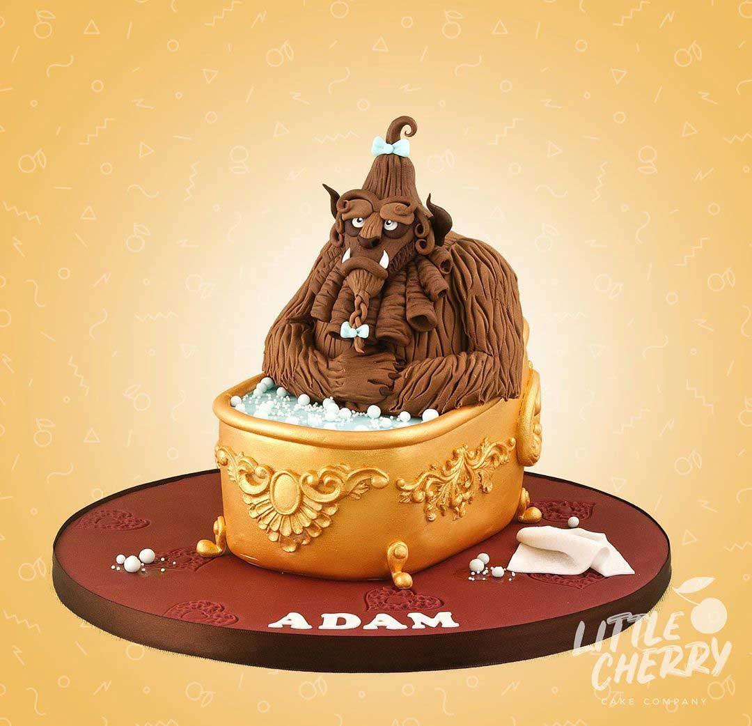 Beauty and the Beast Bathtub Cake