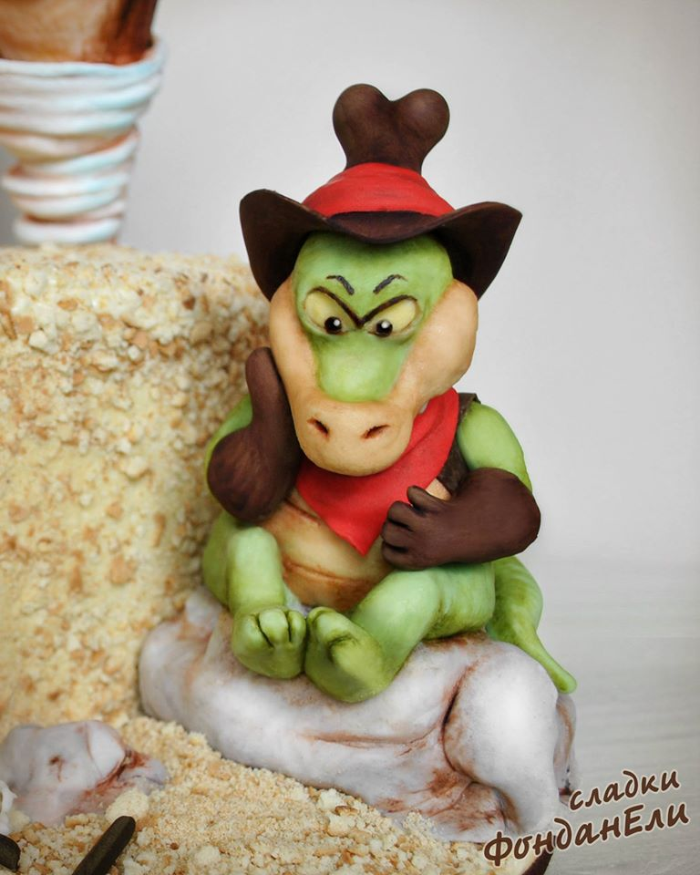 Bull Gator Cake