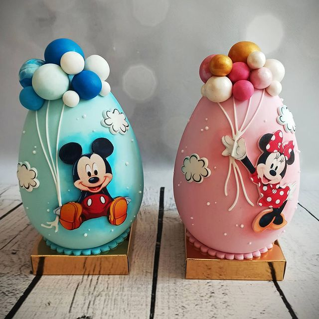 Mickey and Minnie chocolate Easter Eggs