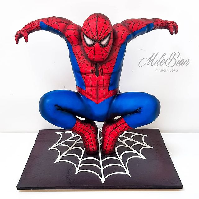 Sculpted Spider-Man Cake