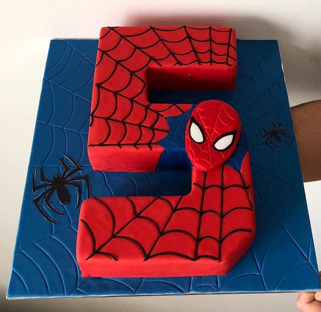 Spider-Man 5th Birthday Cake