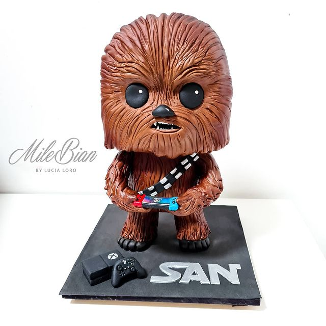 Chewbacca Funko Pop cake