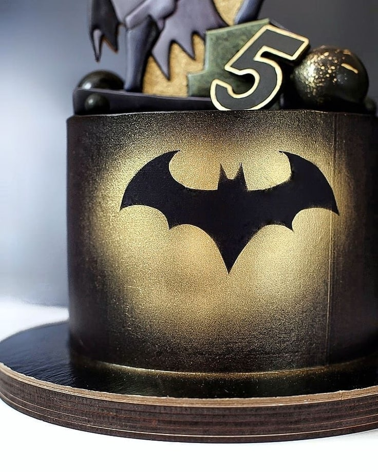 Close-up of Batman Cake