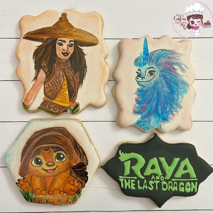 Raya and The Last Dragon Cookies