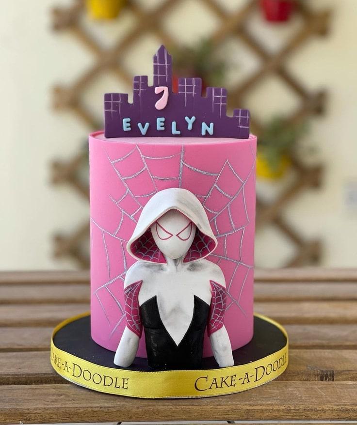 Spider-Gwen 7th Birthday Cake
