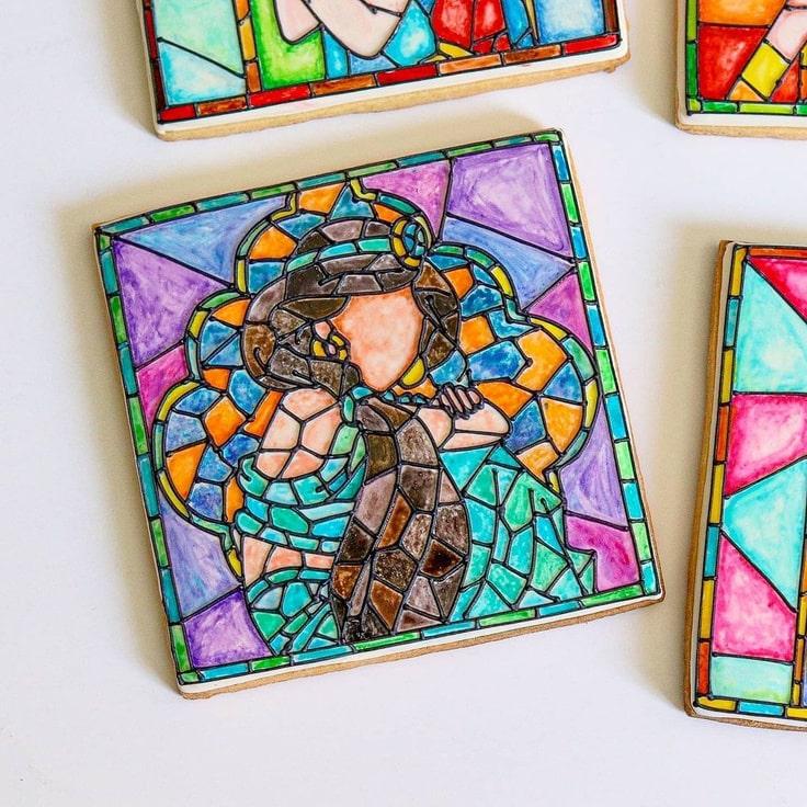 Stained Glass Jasmine Cookie