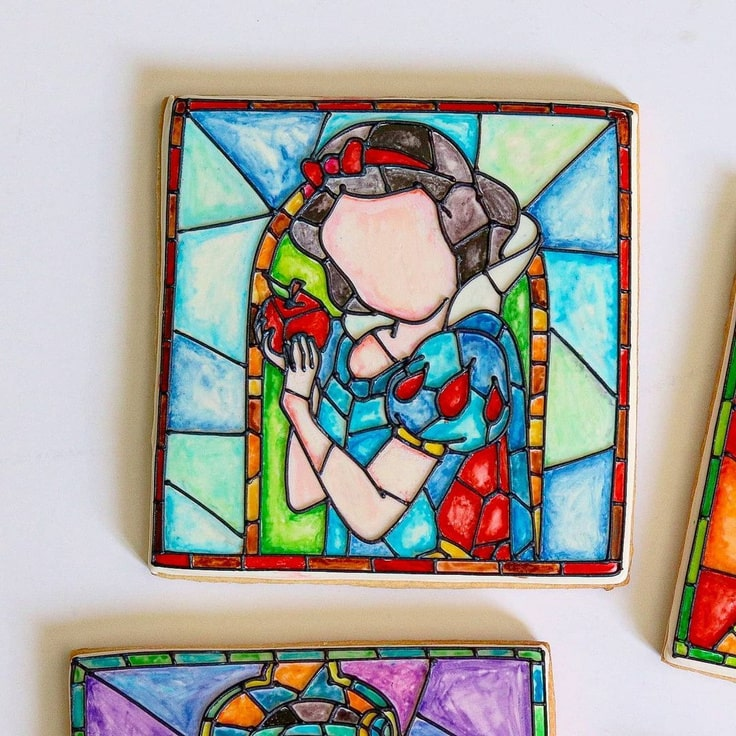 Stained Glass Snow White Cookie