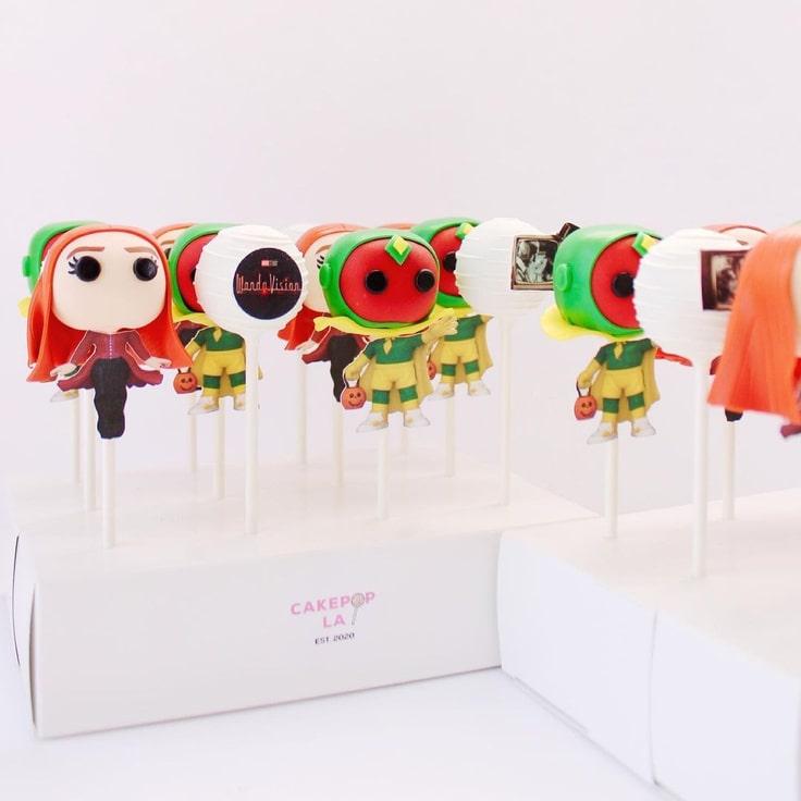 WandaVision Cake Pops