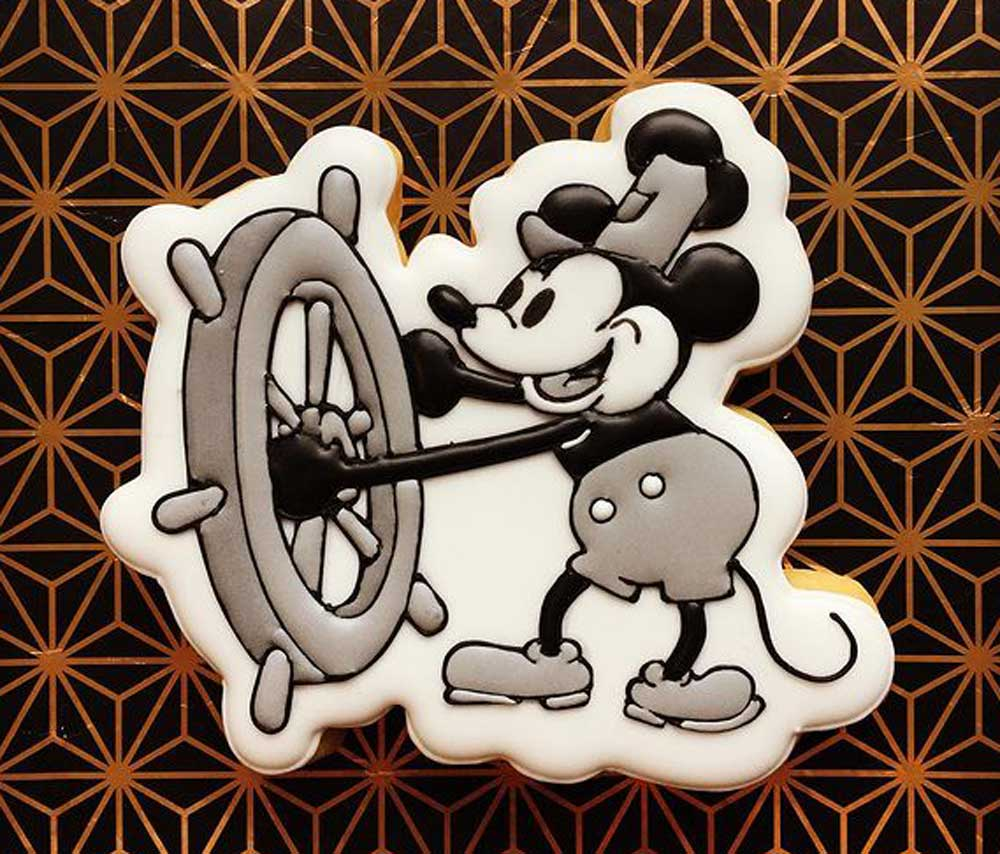 Mickey Mouse Steamboat Willie Cookie