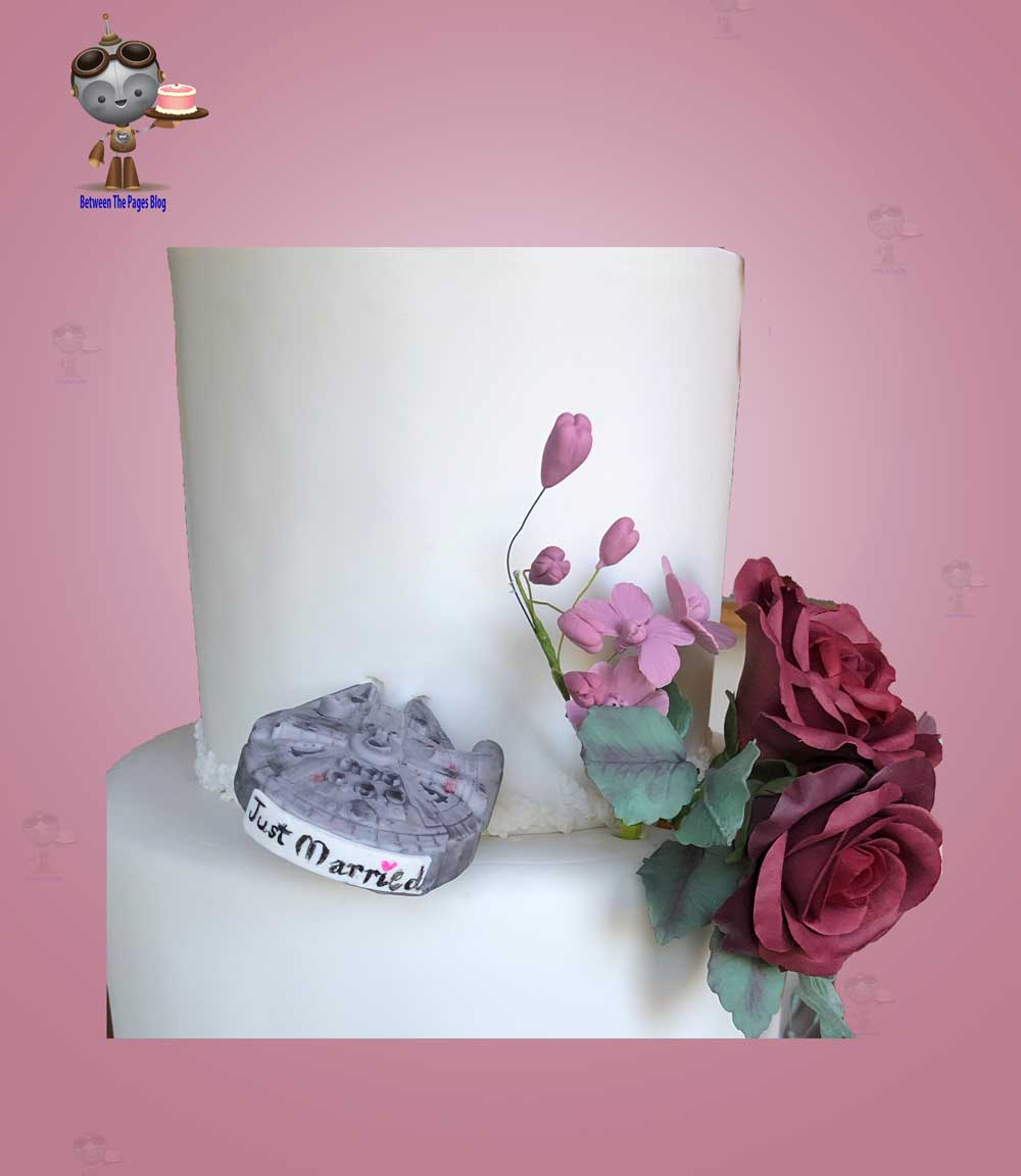 Millennium Falcon on Wedding Cake