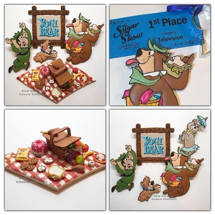Yogi Bear Cookie Collage
