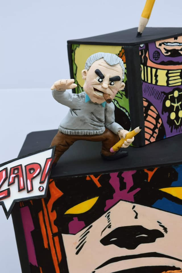 Close-up of Jack Kirby Cake Topper