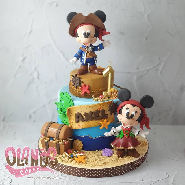 Pirate Mickey Mouse Cake