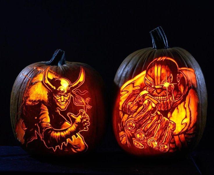 Loki & Thanos Pumpkins