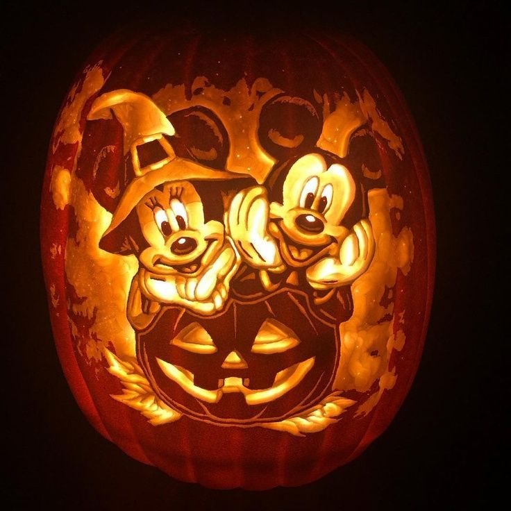 Mickey & Minnie Mouse Halloween Pumpkin