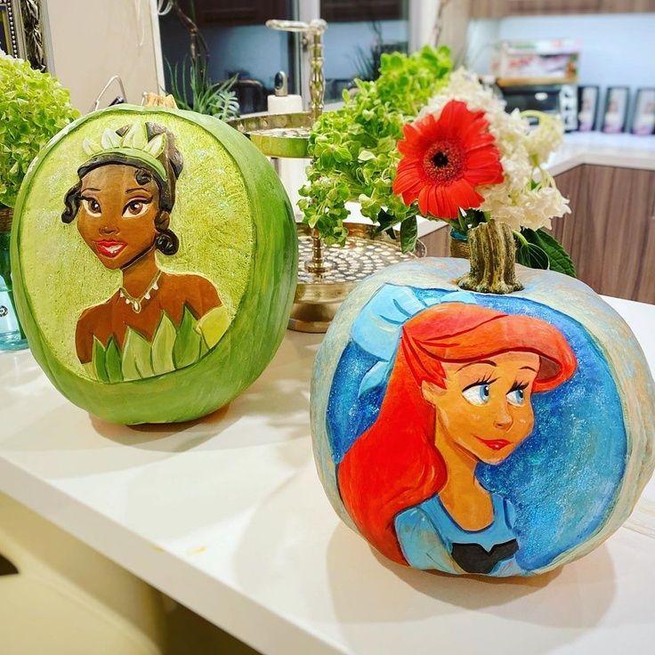 Princess Tiana & Ariel Pumpkins