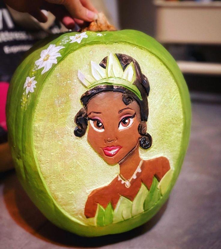 Princess Tiana Pumpkin