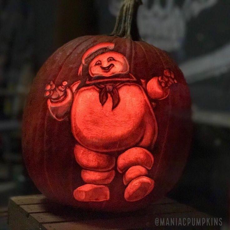 Stay Puft Marshmallow Man Pumpkin